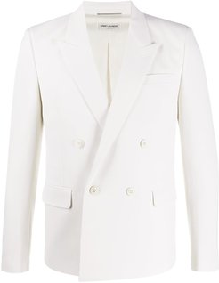 double-breasted tailored blazer - Neutrals