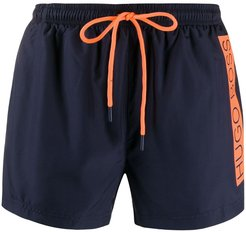 logo stripe swim shorts - Blue