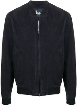 zip-through bomber jacker - Blue