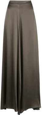 Charmeuse palazzo trousers - Brown