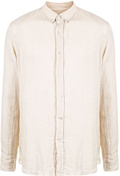 button-down linen shirt - Neutrals