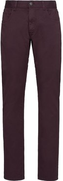 straight chino trousers - Brown