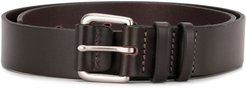 covered buckle belt - Brown