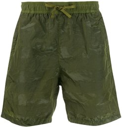 textured swim short - Green