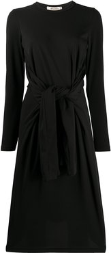 belted shift dress - Black