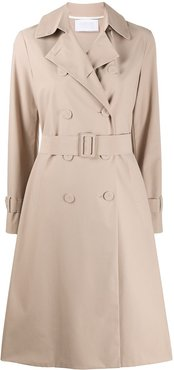 double-breasted trench coat - Neutrals