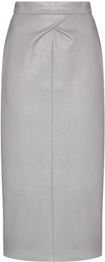 faux leather pencil skirt - Grey