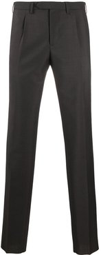 tapered-leg tailored trousers - Brown