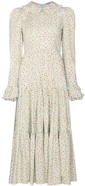 Lucy floral tiered midi dress - Blue