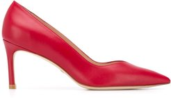 pointed mid-heel pumps - Red