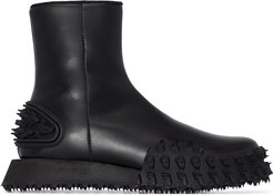 Recycle Surf leather ankle boots - Black