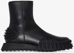 black RE-CYCLE Surf leather boots
