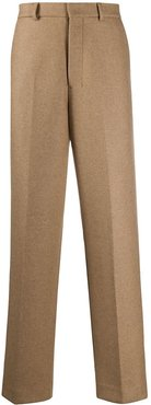 wide fit tailored trousers - Neutrals
