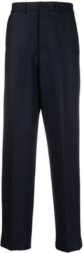 wide straight trousers - Blue
