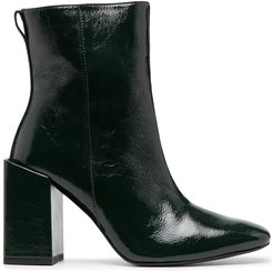 heeled ankle boots - Green