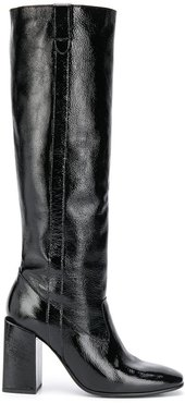 block-heel knee-high boots - Black