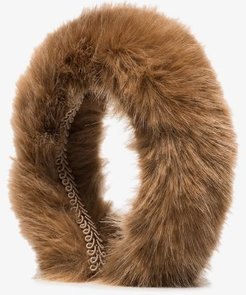 brown Malete faux fur headband