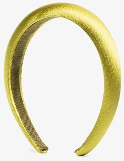 green Chartreuse silk satin headband