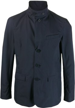 tailored rain jacket - Blue