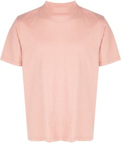 mock neck cotton T-shirt - PINK