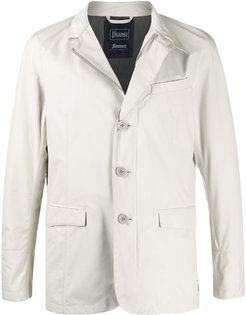 tailored rain jacket - Neutrals