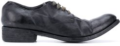 033N creased derby shoes - Blue