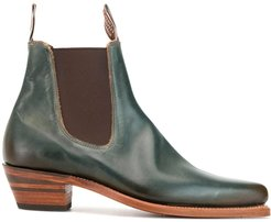 Millicent pointed-toe Chelsea boots - Green