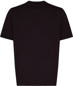 mock-neck cotton T-shirt - PURPLE