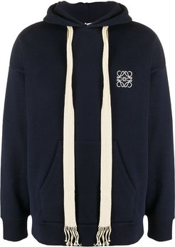 embroidered logo hoodie - Blue
