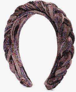 multicoloured metallic plait headband