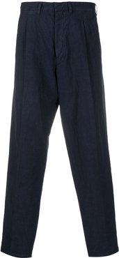 crinkled chinos - Blue