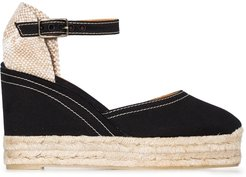 Candy 80mm espadrille wedge sandals - Black