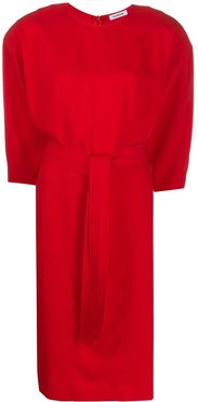 belted midi dress - Red