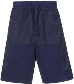 panelled cargo shorts - Blue