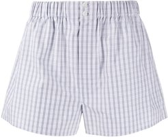 check relaxed-fit boxers - Blue