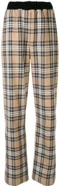 checked print trousers - Neutrals