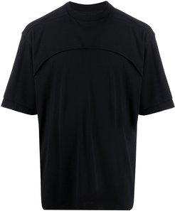 layered T-shirt - Black