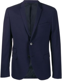 multi-pocket suit jacket - Blue