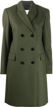 double breasted coat - Green