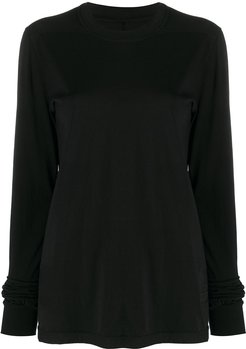 crew neck jersey sweater - Black