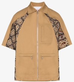 Iranian pleat shirt jacket