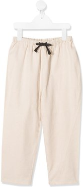 Chelsea drawstring trousers - NEUTRALS