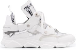 chunky high-top trainers - White