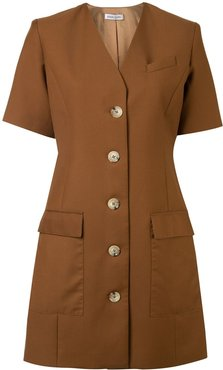 Portia single-breasted tailored dress - Brown