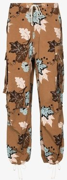 Peace printed drawstring trousers
