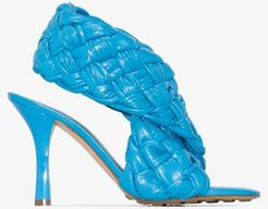 blue BV Board 90 woven leather sandals