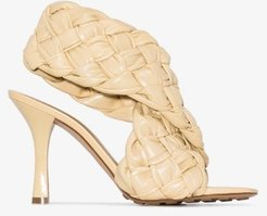 neutral BV Board 90 woven leather sandals