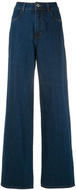 flared trousers - Blue