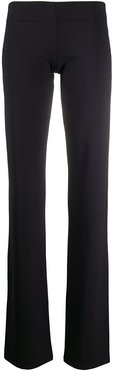 slim-fit flared trousers - Black