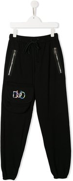 TEEN holographic logo trousers - Black